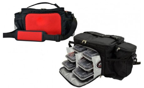 Insulated Lunch Bag Travel Picnic 6 Meal Management System