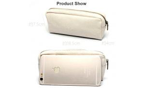 Promotional School Zippler Closure Canvas Cosmetic Bag Pencil Bag Pen Bag