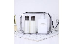 Travel Luggage Pouch Clear Transparent PVC Travel Toiletry Bag Make Up Cosmetic Bag