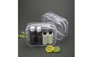 Waterproof fashion clear pvc ziplock cosmetic bag for women