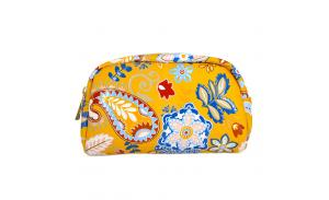 Pu Leather Zipper Make Up Bag Promotional Travel Cosmetic Bag