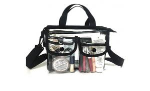 Wholesale Clear pvc cosmetic bags with adjustable shoulder strap