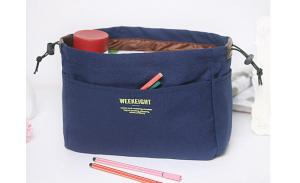 wholesale custom printed small blank plain canvas cosmetic bag with zipper
