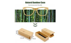 2020 wholesale square box packaging cheap bamboo sunglasses case
