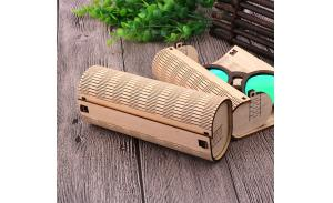 Hot sale sunglasses case fashion designs on woodwork custom logo bamboo glasses cases