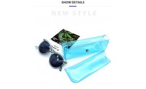 wholesale PVC Glasses Case Sunglasses Hard Case With Clip