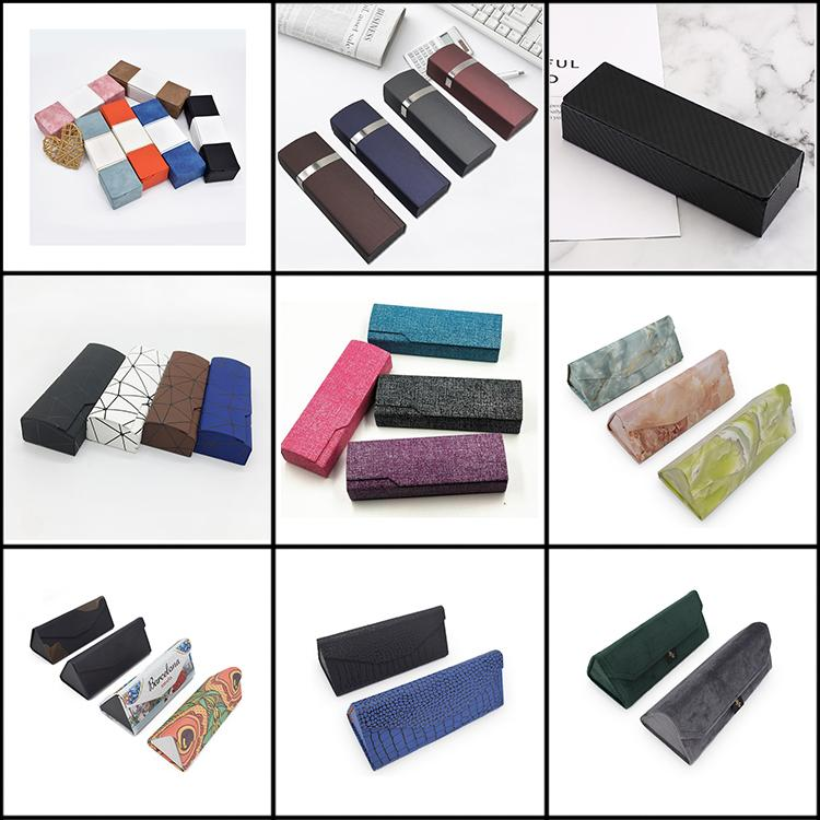 Wholesale Custom Print Luxury Leather Spectacle Sunglasses Eyeglasses Case