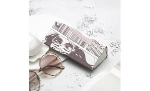 Folding case Custom logo sunglasses case triangle cheap eyewear Sunglasses case