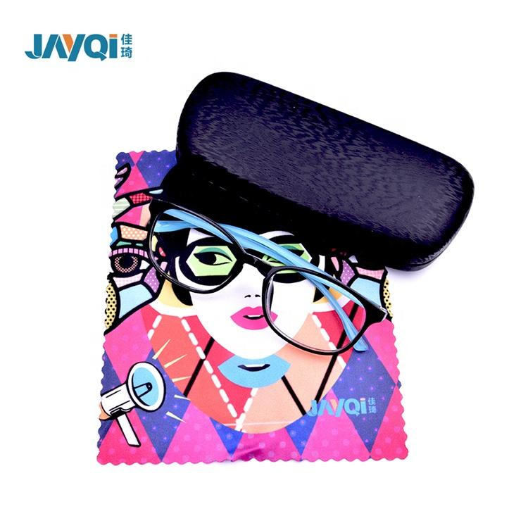 wholesale custom logo luxury soft handmade pu leather sunglasses case