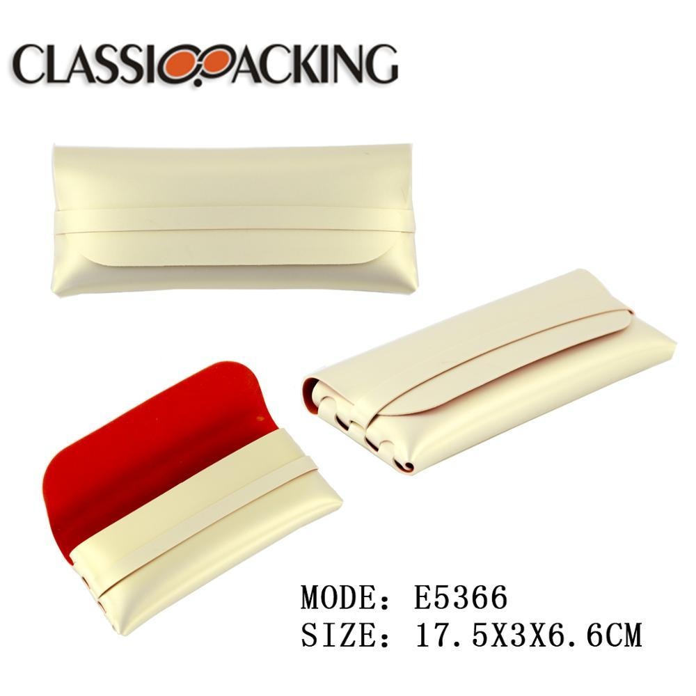 Wholesale High Quality Leather PU Glasses Case Custom Logo Sunglasses Case