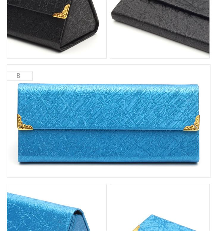 Wholesale High Quality Oem Leather Triangle Folding Sunglasses Case