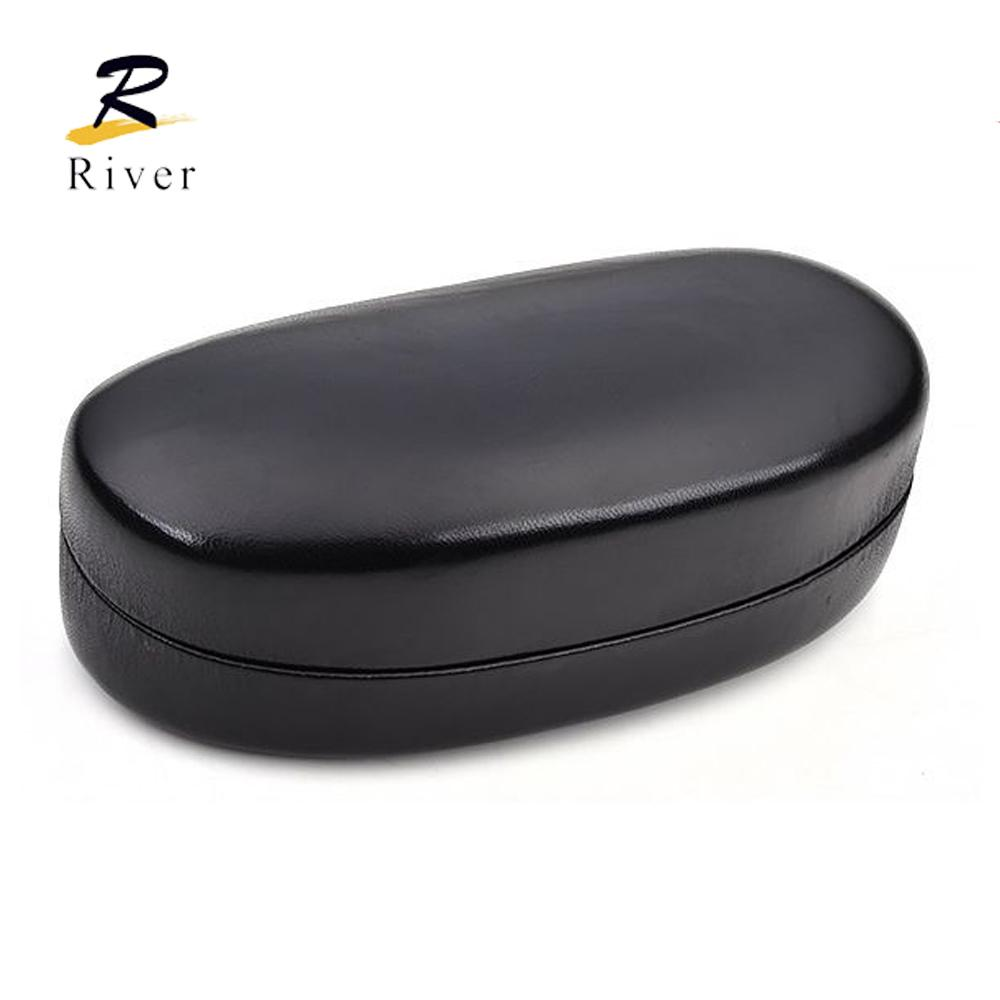 Amazon hotsale new  riveroptical hard iron eyewear custom wholesale eyeglasses leather sunglasses case