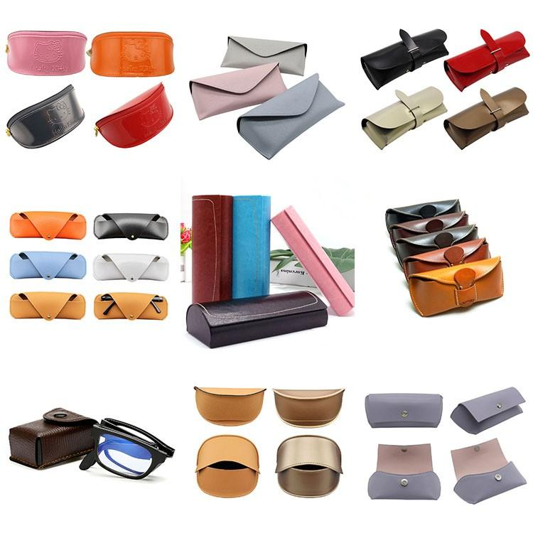 Wholesale Soft PU Leather Eyeglass Bag Box Custom Sunglasses Case