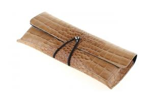 CROC-EFFECT PU leather material sunglasses case, fashion and beautiful eyewear case, wholesale glasses soft case