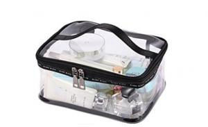 Promotional custom zipper portable luxury fashion clear pvc women cosmetic bag