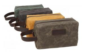 Waxed canvas Wholesale Small Canvas Hanging Men Toiletry Cosmetic Bag