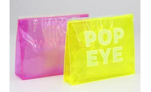 Wholesale waterproof transparent makeup PVC cosmetic bag with bubbles more color for choose