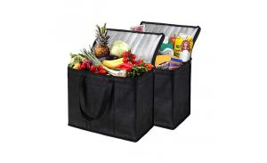 Eco-friendly non woven lunch bag Customized logo printed food delivery bag insulated cooler bag