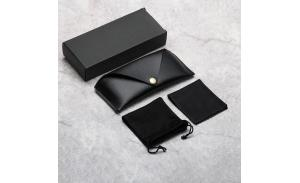 2020 New Style Custom Logo PU Leather Sunglasses Case Glasses Packaging Box