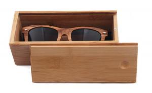 Carve your logo Pull Out hard wholesale custom bamboo wooden sunglasses case
