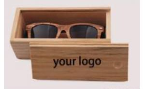Wholesale High Fashion Square Eco-Friendly Eyewear Wooden Sunglasses Case with logo