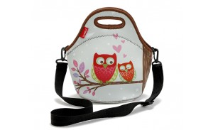 Cheap Lady Printing Neoprene Small Lunch Bag with Shoulder Strap