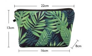Small and exquisite travel makeup pouch custom full printing neoprene cosmetic bag