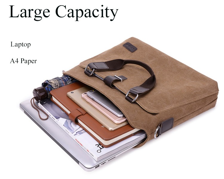 Custom logo Sleeve Case Air 13 12 13 15  inch handle shoulder strap Canvas Laptop Bag notebook bag